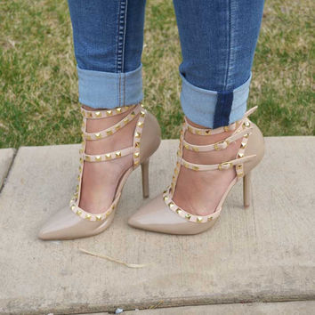 Be My Valentine Pumps - Natural