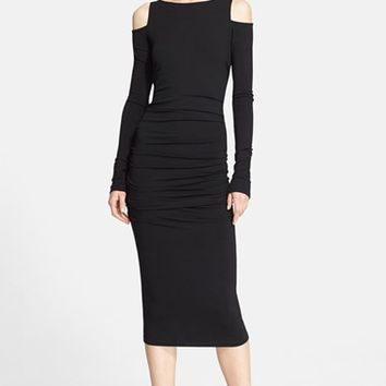 Women's Donna Karan New York Cold Shoulder Jersey Dress,