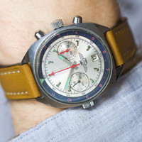 SHTURMANSKIE Chronograph 3133, mechanical Russian air forces pilot watch chronograph, premium leather strap new