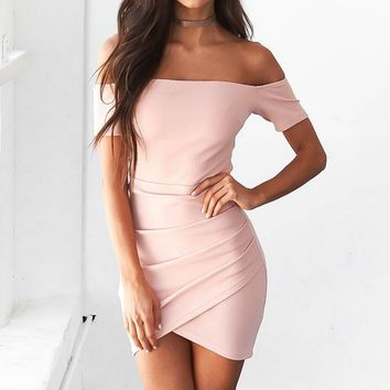 Women's Fashion With short sleeves Bodycon Wrap Dress