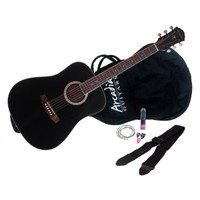 "Arcadia DL41BK PAK 41"" Full-size Dreadnaught Acoustic Guitar Pack, Spruce with Black Finish"