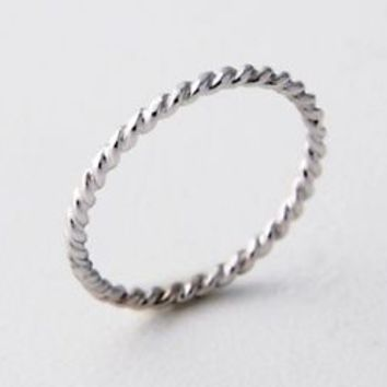 Stacking Ring Twisted Band 925 Sterling Silver