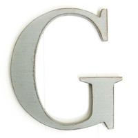 Wall letter G wood sign decor cottage style wedding by OldNewAgain