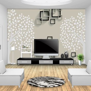 European Simple Luxury Beige Non-woven fabric Wallpaper For Wall 3 D Classic Embossed TV Room Bedroom Wall paper Home Decor