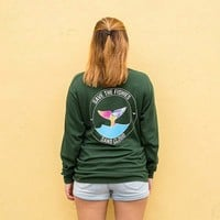 Long Sleeve Forest Green Floral