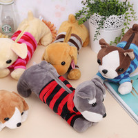 animal pencil cases Plush pencil bag Kawaii pen pouch dog pencil box pencilcase estuches school girl school supplies papelaria