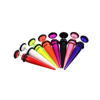 Unisex 8pc Fake Ear Taper Cheater Illusion Plug Earring Stretcher Stretching Expander Kit Ear Gauges