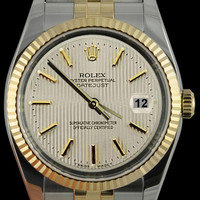 SS & yellow gold jubilee men watch white stick dial Rolex