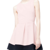 Dress with contrasting hem - DRESSES - COLLECTION -Stradivarius United Kingdom