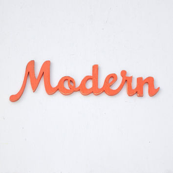modern wood sign - ecofriendly