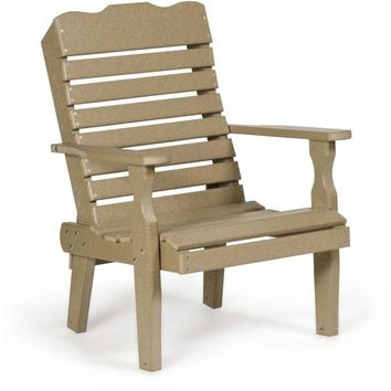 Leisure Lawns Amish Made Recycled Plastic Curve-Back Chair Model # 300 - Ships FREE within 2 to 3 Weeks