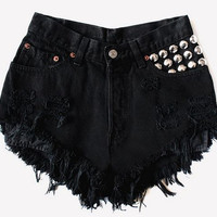 Studded shorts by TakeItHigh on Etsy