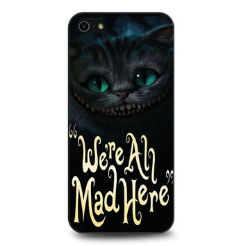 Cat Cheshire We're All Mad Here iPhone 5 | 5S case