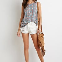 Tribal Print Muscle Tee