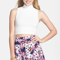 Frenchi Mock Neck Crop Tank (Juniors)