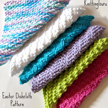 Easter - 6 Dishcloth Patterns Pack PDF - Eco-Friendly DIY Tutorials - Instant Download