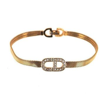 DCCKG2C Dior Rhinestone logo bangle
