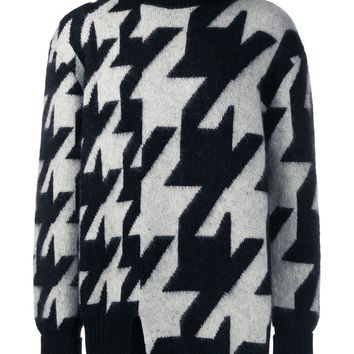 Mohair Intarsia Funnel Neck Sweater by Alexander McQueen