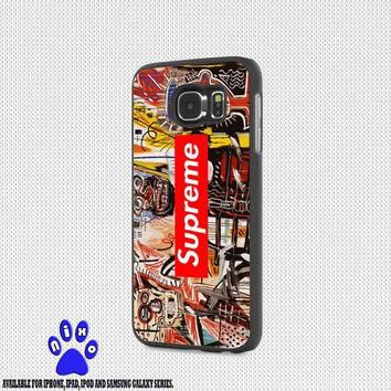 Jean Michel Basquiat art supreme for iphone 4/4s/5/5s/5c/6/6+, Samsung S3/S4/S5/S6, iP