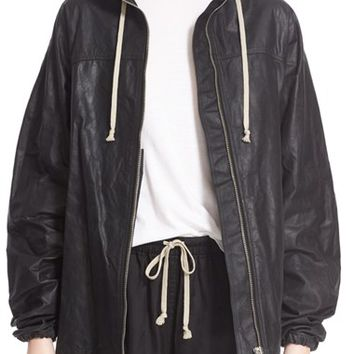 Rick Owens Hooded Leather Jacket | Nordstrom