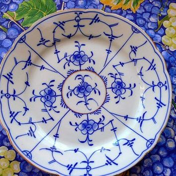 Vintage Blue and White Plate TREASURY ITEM by EitherOrFinds
