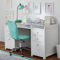 Customize-It Acrylic Storage Pedestal Desk
