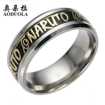 Naruto Sasauke ninja 10pcs/Lot Fashion Men's Ring Punk Rock Accessories  Stainless Steel Spinner Rings For Men USA Size 6-13 RIG172 AT_81_8