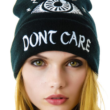 UNIF Eye Don't Care Beanie Black One