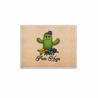 "Noonday Design ""Free Hugs Cactus"" Green Pastel KESS Naturals Canvas (Frame not Included)"