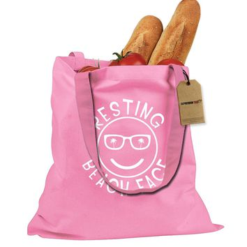 Resting Beach Face Shopping Tote Bag