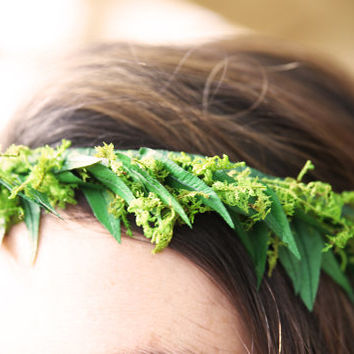 Hair Crown. Preserved Real Fern & Moss.