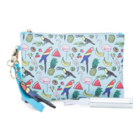 Paradise Cover Pouch With Charger - Clutches - T.J.Maxx