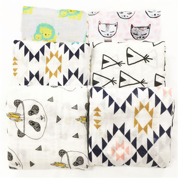 Muslin Baby Swaddle Blanket - Multi Designs
