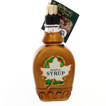 Old World Christmas MAPLE SYRUP Glass Delicious Pancakes Waffles 32286