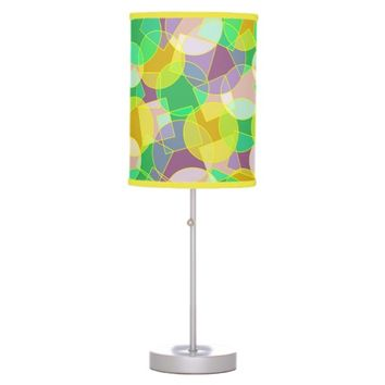 Stained glass geometric pattern hanging pendant lamps