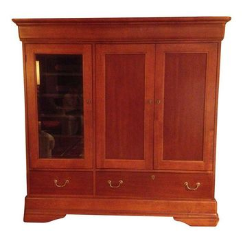 Pre-owned Cherry Media Cabinet Armoire