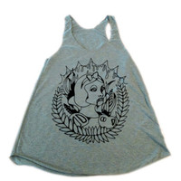 TomorrowsUnknown Exclusive original design Snow Vamp racerback tank tee american apparel choose size and color