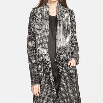 Women's Vince Frayed Edge Drape Front Cardigan,