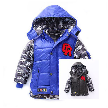 Boys Cute Soft Thick Warm Winter Hooded Jacket