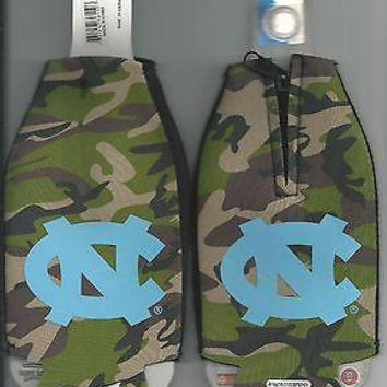 North Carolina Tar Heels Camo Koozie Camouflage Bottle Koozies Set of 2