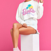 Newton Crop Pullover ~ Totally Barbie Graphic