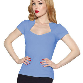 Denim Blue Sophia Top Rock Steady