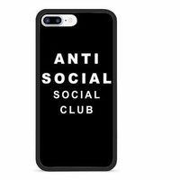 Top Anti Social Club Logo Fit Case For iPhone 6 6s 7 8 Plus X Samsung Cover