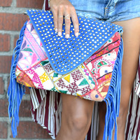 Gypsy fringe clutch