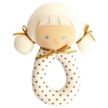 Alimrose Audrey Grab Rattle Gold