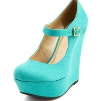Sueded Mary Jane Wedge: Charlotte Russe