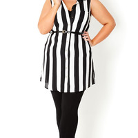 Plus Size Striped Tunic Top