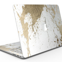 Gold Foiled Marble v1 - MacBook Air Skin Kit