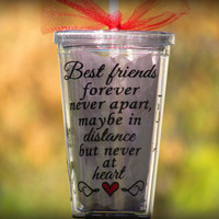 Best friend, Best Friend Gift, Friendship Gift, Gift for friends, Gifts for her, Long Distance Friends, Long Distance Cup, Best friend cup