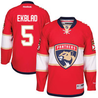 Men's Florida Panthers Aaron Ekblad Reebok Red Home Premier Player Jersey